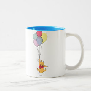 Winnie the Pooh and Balloons Two-Tone Coffee Mug