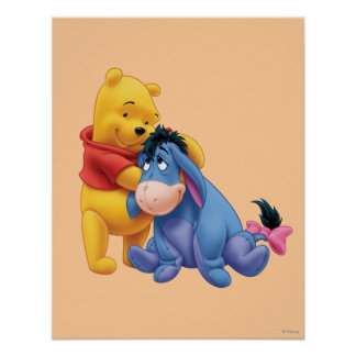 Winnie the Pooh and Eeyore Poster