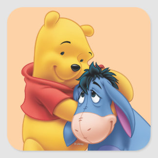 Winnie the Pooh and Eeyore Square Sticker
