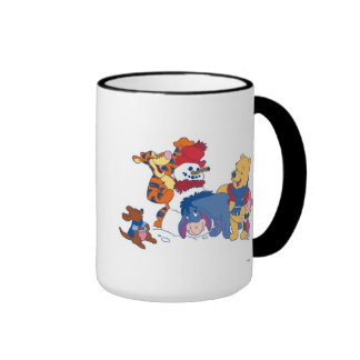 Winnie  the Pooh and Friends Ringer Coffee Mug