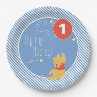 Winnie the Pooh | Baby Boy- First Birthday Paper Plate