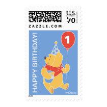 Winnie the Pooh | Baby Boy- First Birthday Postage