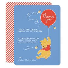 Winnie The Pooh | Baby Boy- Thank You Card at Zazzle