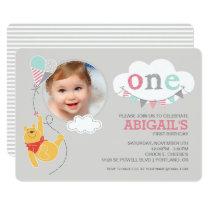 Winnie the Pooh | Baby Girl - First Birthday Card