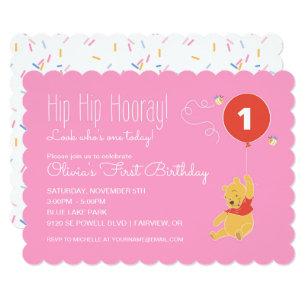 Girls First Birthday Invitations Announcements Zazzle