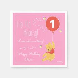 Paper Napkins with Birthday Invitations design