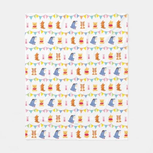 Winnie the Pooh | Baby Party Pattern Fleece Blanket