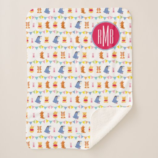 Winnie the Pooh | Baby Party Pattern Sherpa Blanket