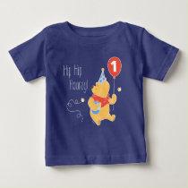 Winnie the Pooh Balloon | Boy - First Birthday Baby T-Shirt