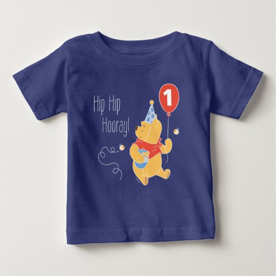 Winnie the pooh gifts on zazzle winnie the pooh balloon boy first birthday baby t shirt negle Image collections