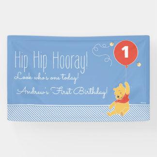 Winnie the Pooh Balloon | Boy - First Birthday Banner