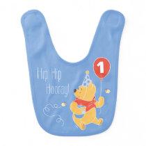 Winnie the Pooh Balloon | Boy - First Birthday Bib