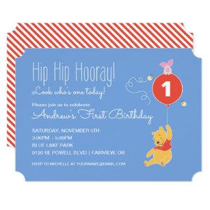 Winnie the pooh invitations announcements zazzle winnie the pooh balloon boy first birthday invitation filmwisefo
