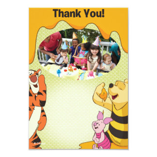 Winnie the Pooh Birthday Thank You Cards Invitations