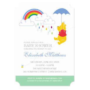 Winnie The Pooh Boy Baby Shower Invitation