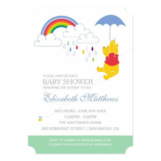 Winnie The Pooh Boy Baby Shower Invitation Zazzle