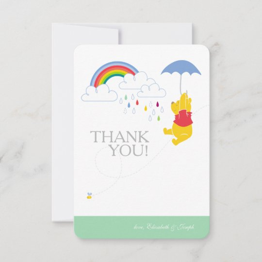 Winnie The Pooh Templates For Baby Shower: Boy Baby Shower Thank You