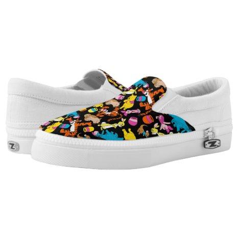 Winnie the Pooh | Bright Friends Pattern Slip-On Sneakers