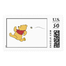 Winnie The Pooh chased by bee Postage