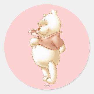 Winnie the Pooh clásico 1 Pegatina Redonda
