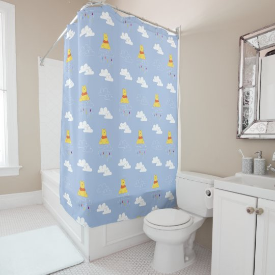 Cloudy Raindrop Pattern Shower Curtain