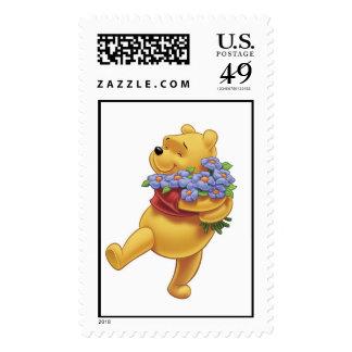 Winnie the Pooh con las flores Franqueo