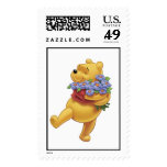 Winnie the Pooh con las flores Sellos