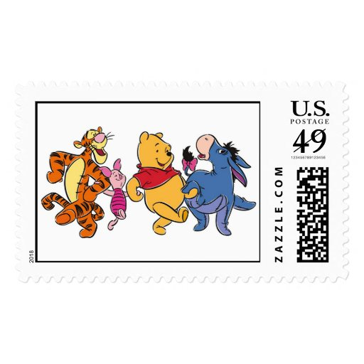 Winnie the Pooh Crew Postage Stamps