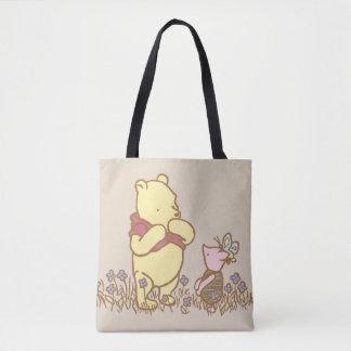 Winnie the Pooh el | bah y cochinillo en obra Bolsa De Tela