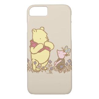 Winnie the Pooh el   bah y cochinillo en obra Funda iPhone 7