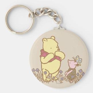 Winnie the Pooh el | bah y cochinillo en obra Llavero Redondo Tipo Pin