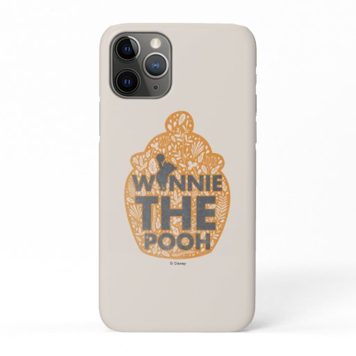 Winnie the Pooh Floral Hunny Pot iPhone 11 Pro Case