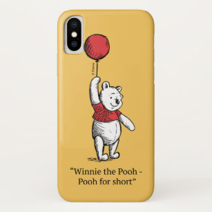 uk availability 7727a 736b3 Winnie the Pooh for Short iPhone X Case