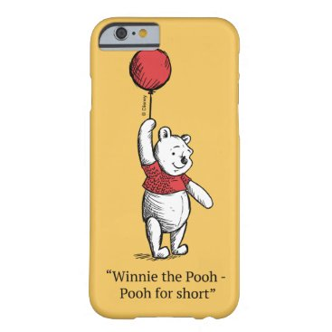 Winnie the Pooh for Short Barely There iPhone 6 Case
