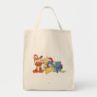 Winnie The Pooh & Friends Holiday Grocery Tote Bag