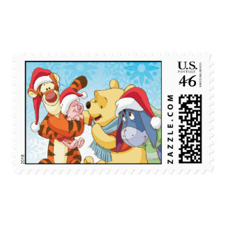 Winnie The Pooh Friends Holiday Postage Stamps