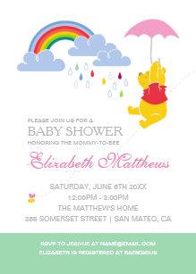 Winnie the pooh invitations zazzle winnie the pooh girl baby shower invitation filmwisefo