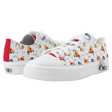 Winnie the Pooh | Hanging with Friends Pattern Low-Top Sneakers
