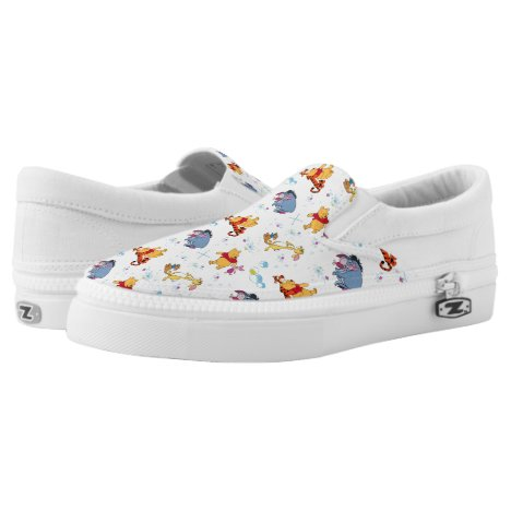 Winnie the Pooh | Hanging with Friends Pattern Slip-On Sneakers