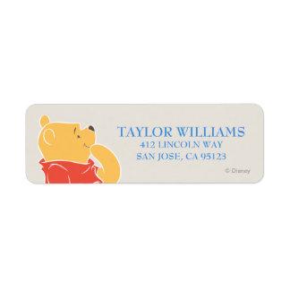 Winnie the Pooh   Happy Birthday Label