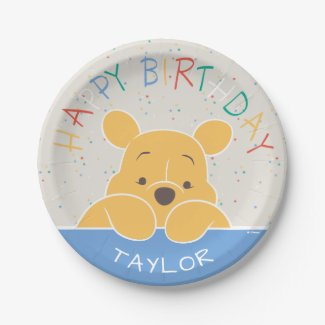 Winnie the Pooh | Happy Birthday Paper Plate