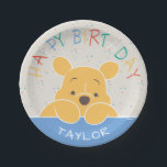 "Winnie the Pooh | Happy Birthday Paper Plate<br><div class=""desc"">Celebrate your child&#39;s birthday with these super cute Winnie the Pooh plates.</div>"