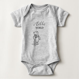 b05ce6729 Winnie the Pooh | Hello World Quote Baby Bodysuit