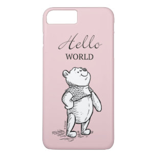 sports shoes 4a9f1 4ed72 Winnie the Pooh | Hello World Quote iPhone 8 Plus/7 Plus Case