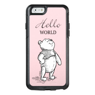 best sneakers 58ad6 a5ed9 Winnie the Pooh | Hello World Quote OtterBox iPhone 6/6s Case