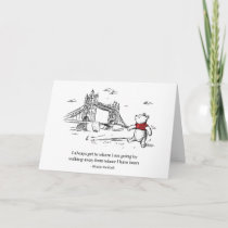 Winnie the Pooh | I Always Get to Where I Am Going Card