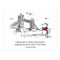 Winnie the Pooh | I Always Get to Where I Am Going Postcard