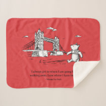 Winnie the Pooh | I Always Get to Where I Am Going Sherpa Blanket