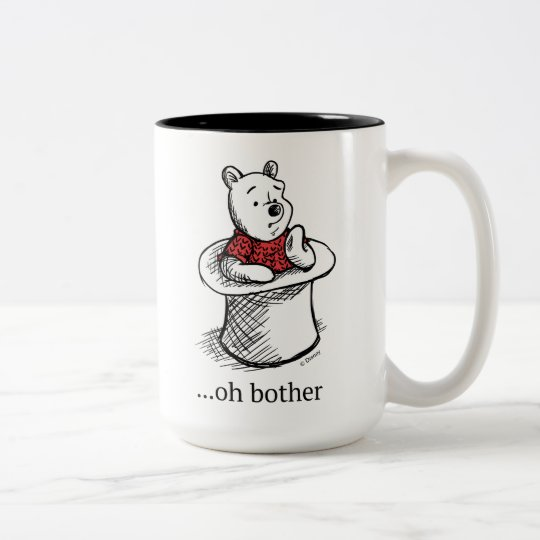 ed1247f2349 Winnie the Pooh | Oh Bother Quote Two-Tone Coffee Mug | Zazzle.com