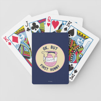 Winnie The Pooh | OK, But First Hunny Bicycle Playing Cards